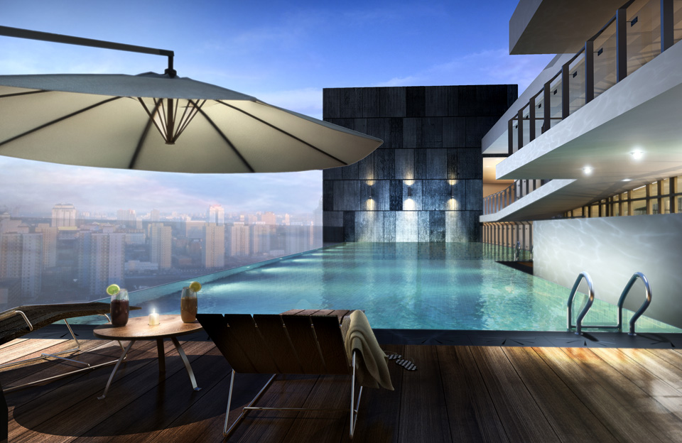 Roof Top Pool - Central SOHO @ Central Residence